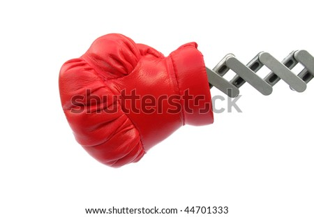Punch by red boxing glove