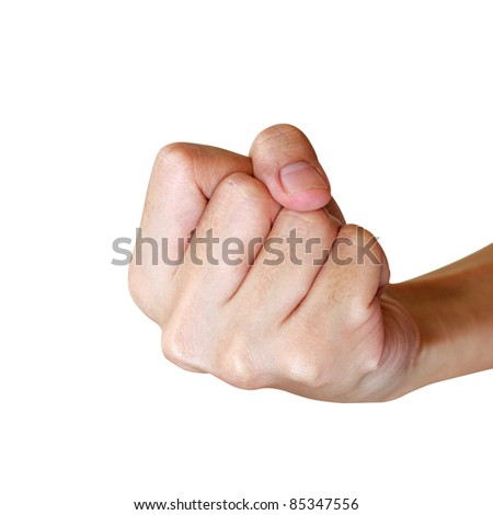 Punch fist isolated on white background