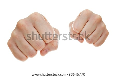 punch fists isolated on white