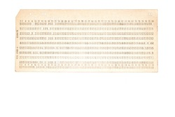 punched card for old PC mainframe