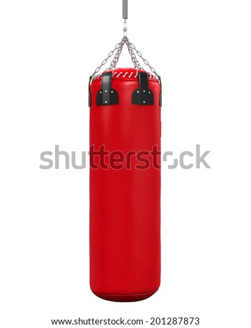 Punching Bag Isolated Stock photo ©