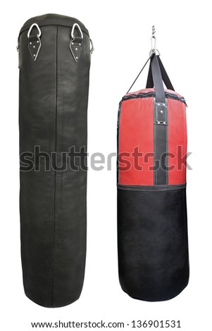 Punching bag under the light background