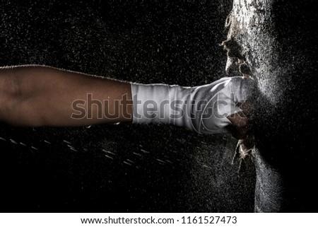 Punching sand bag Stock photo ©