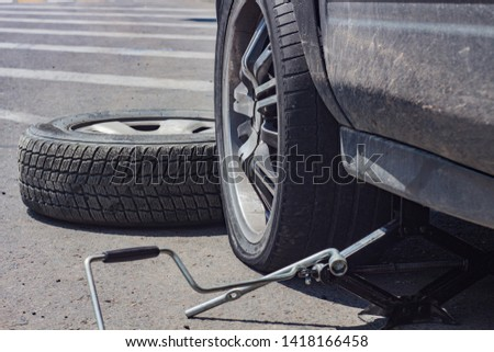 Puncture wheel and spare wheel #1418166458
