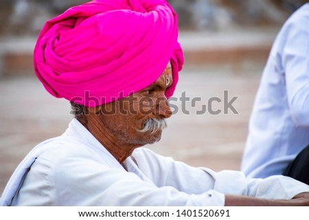 Pune, India - May 19 2019: Portrait of an Indian man outdoors at Pune India #1401520691