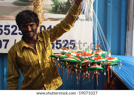 Pune maharashtra india august 15 a street side peddler for 15th august independence day decoration ideas