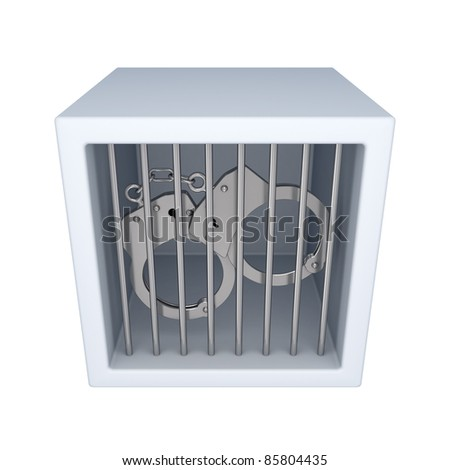 Punishment concept.Isolated on white background. 3d rendered.