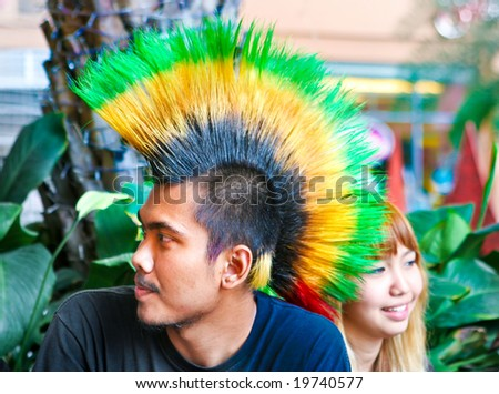 Yellow Guys With Mohawks Punk With A Green And Yellow