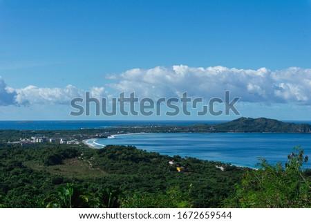 Punta de Mita Beach seen from Cerro del Mono Nayarit Mexico. Foto stock ©