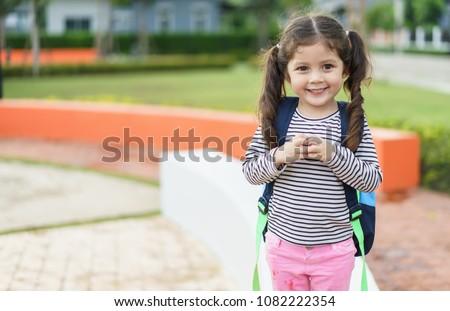 pupil go to school.kindergarten school concept.preschool #1082222354