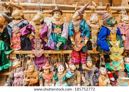 Puppet Myanmar tradition dolls