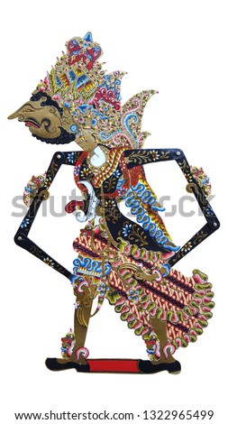 Puppet or Wayang Kulit, one of the traditional art of Java, Indonesia. Mahabharata and ramayana story adopted from india. Tells the story of a day in the life of human #1322965499