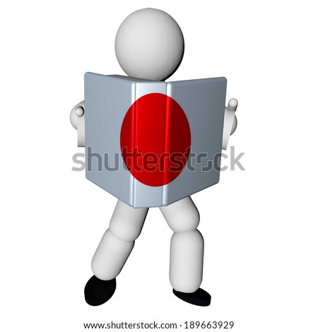stock-photo-puppet-reading-book-with-japanese-flag-d-render-189663929.jpg