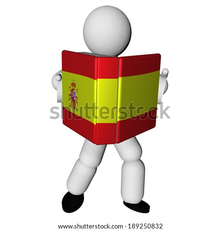stock-photo-puppet-reading-book-with-spanish-flag-on-cover-d-render-189250832.jpg