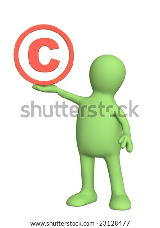 Puppet with copyright symbol