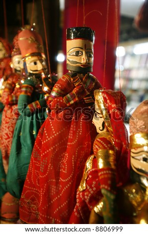 puppets on display, delhi, india