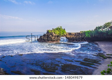 Pura Hindu near Pura Tanah Lot at beach Bali Indonesia