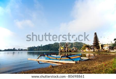 Pura Ulun Danu Temple on lake Bratan Bali Indonesia