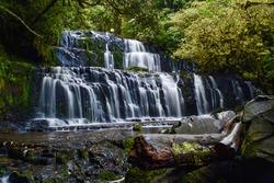 Purakaunui Falls, Otago, New Zealand