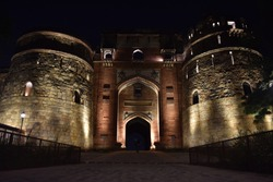 Purana Qila, Old Fort, Delhi, Night View sound and light show, Mughal architecture, Purana Qila is the oldest fort among all forts in Delhi, Old Fort, New Delhi