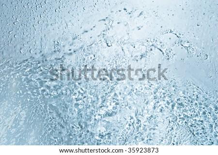 pure blue water drop jet transparent health hygiene life Nature Medicine