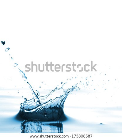 pure water on a white background #173808587