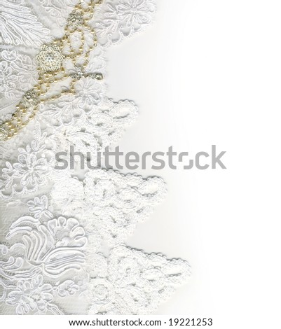 stock photo Pure white luxury wedding border