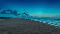 Puri beach at the time of Sunset.