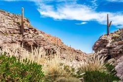 Puritama thermal baths in San Pedro in the Atacama desert in Chile southamerica