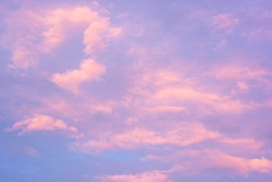 purple afternoon sky and clouds