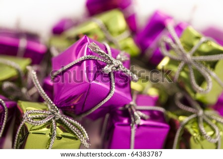 purple and green parcels background