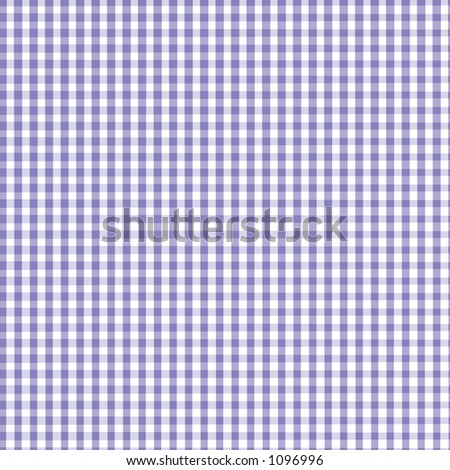 Purple  and White Gingham with slight fabric texture