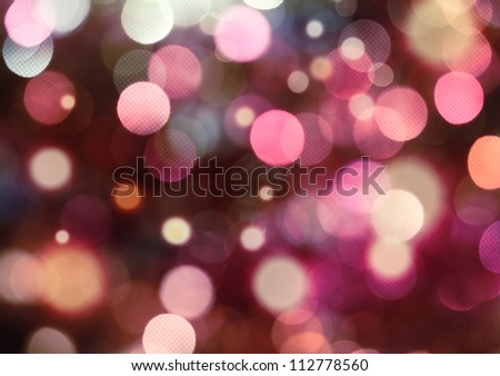 Purple and white holiday bokeh. Abstract Christmas background - stock photo