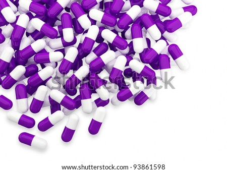 purple and white pill background