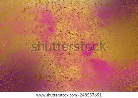 Purple and yellow , golden abstract   background , with   painted  grunge background texture for  design .