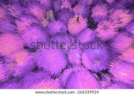 Purple apples to apples, perspective purple background. Purple, violet apples fruit splash pattern,  fruits background. Splashing apple fruit background