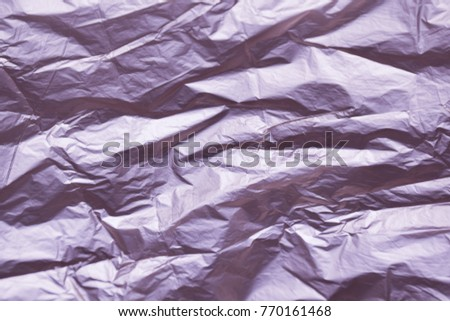 Purple background. Crumpled paper. #770161468