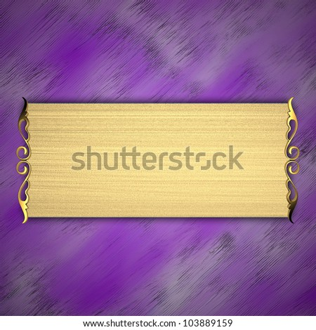 Purple Background with Gold plate