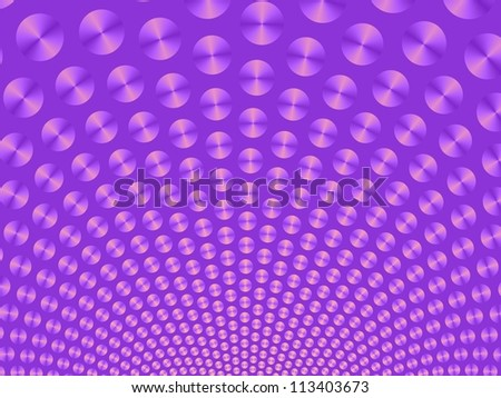 Purple Ball Fountain/Digital patterned image with a ball fountain design in purple on a purple background. - stock photo