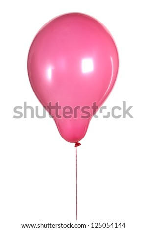 Purple balloon isolated on white