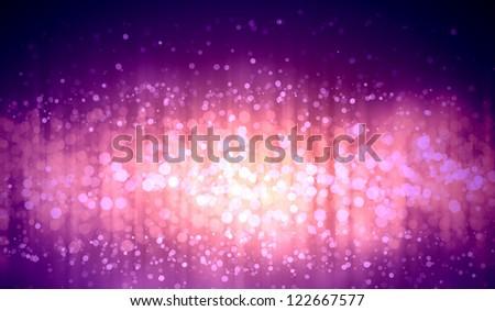 Purple colour bokeh abstract light background. Illustration