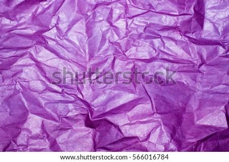 Purple crumpled paper #566016784
