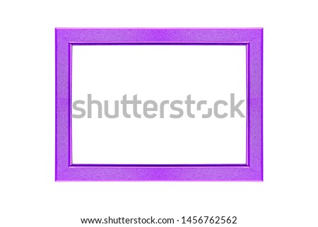 purple curved frame isolated on white background