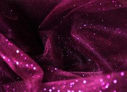 purple, elegant, creased silk scarf textile close up