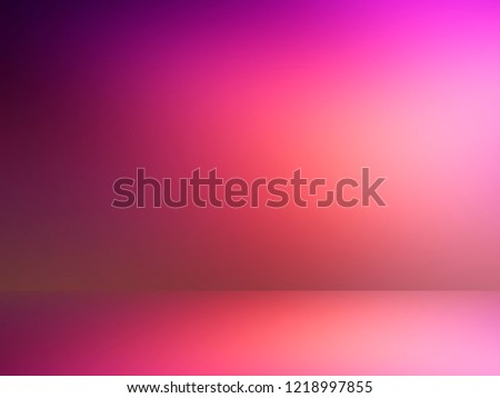 Purple empty room. Blurred background 3d. Abstract lilac background. Studio.