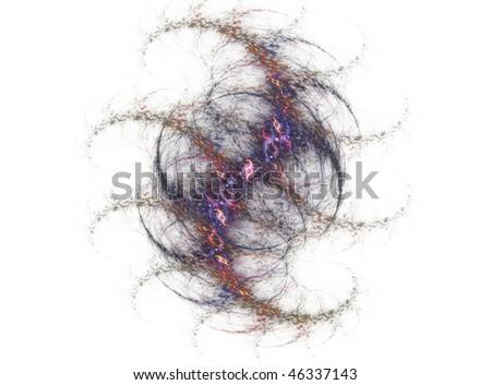 Purple fractal spine abstract design element