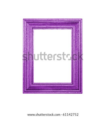 Purple Frame an white background