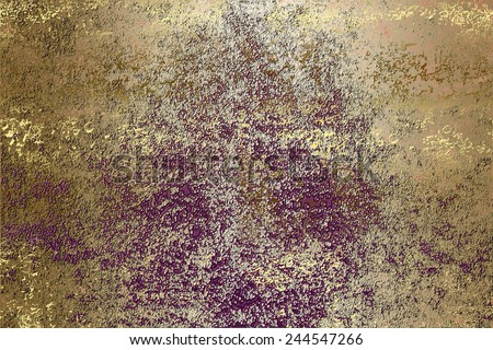 Purple golden , abstract color  background , with   painted  grunge background texture for  design .