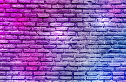 purple graffiti brick wall background