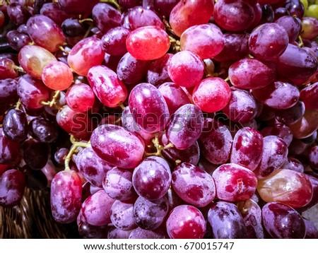 Purple grape. fruit for healthy. #670015747